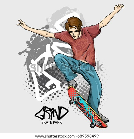 vector boy with a skateboard