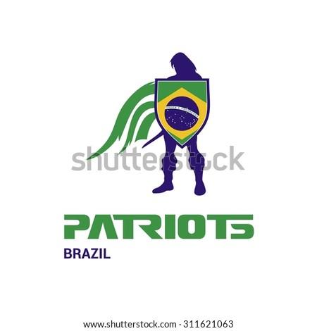 vector brazil flag patriots