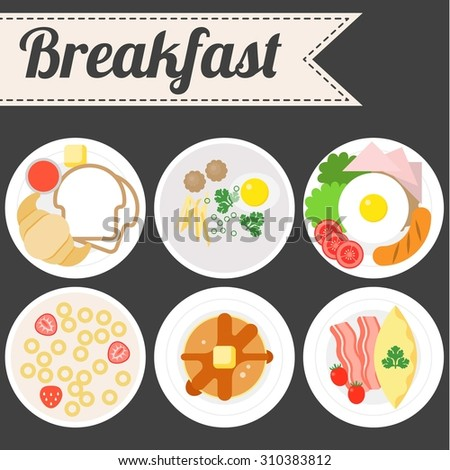 vector breakfast