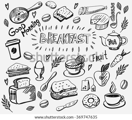 vector breakfast and morning