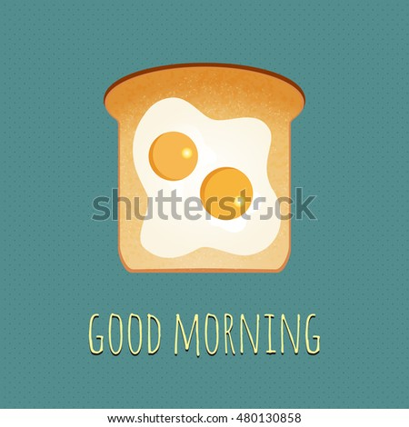vector breakfast concept with