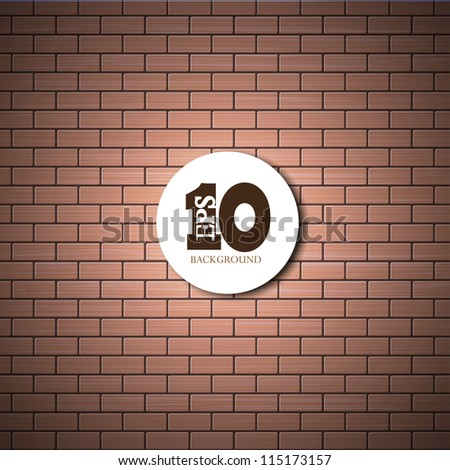 vector brick wall background with place for your text. Eps10