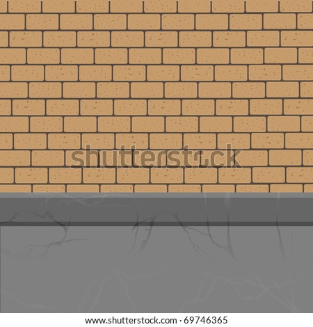 Vector brick wall to the foundation.