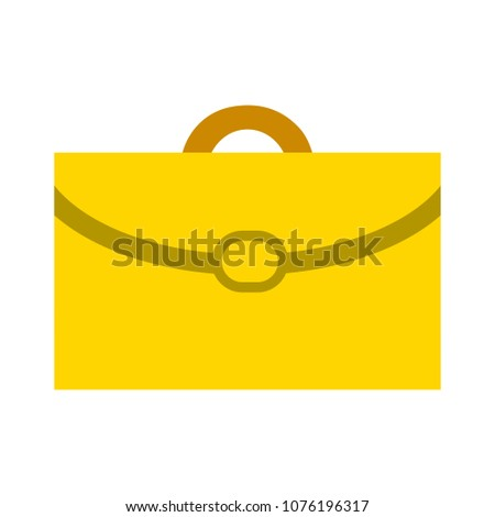 vector briefcase illustration, suitcase symbol - office portfolio isolated