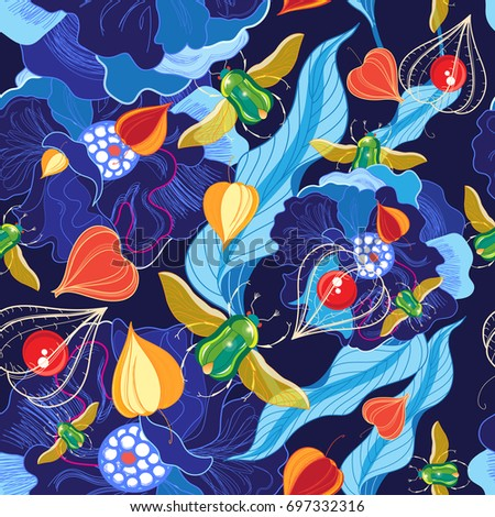 vector bright floral pattern