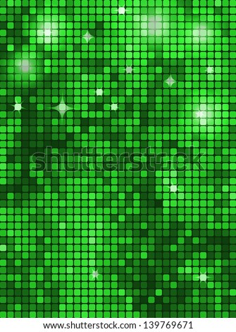 Vector Bright Green Background. Vertical Rectangle Mosaic ...