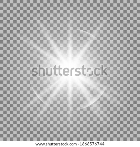 Vector, bright illustration for perfect effect with sparkles. Bright Star. Transparent shine of the gloss gradient, bright flash.
