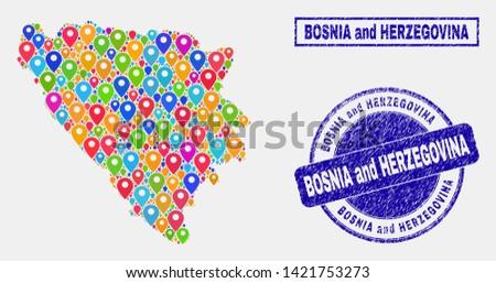 vector bright mosaic bosnia and