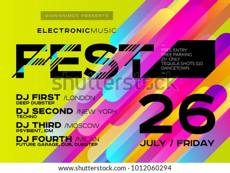 vector bright music poster for