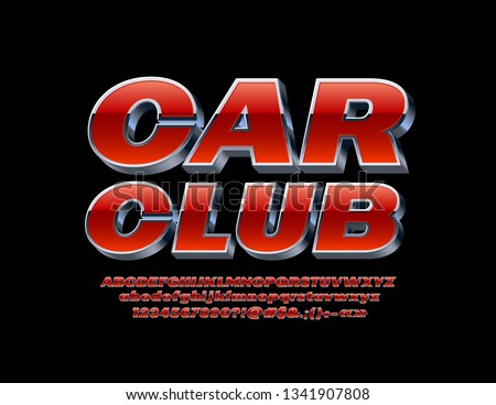 vector bright sign car club