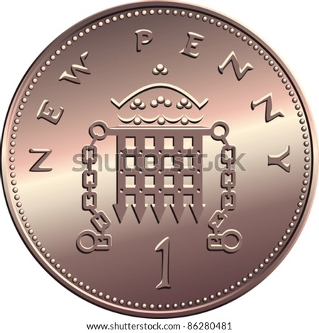 vector british money bronze