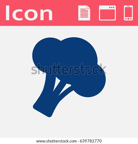 Vector broccoli icon. Food icon. Eps10