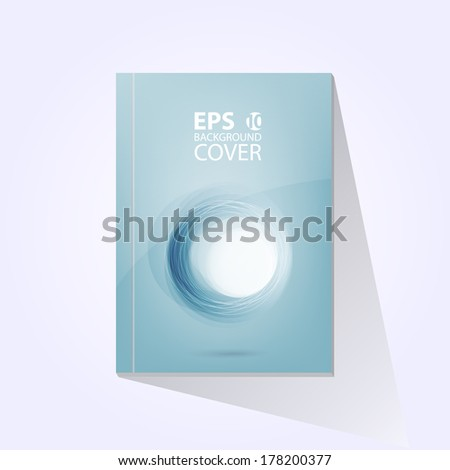Vector brochure book jornal swirl cover design