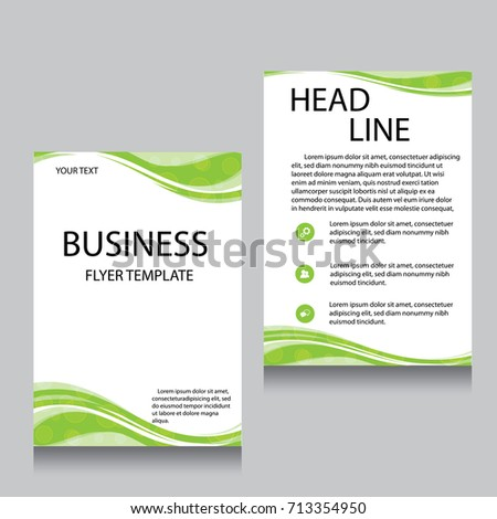 Vector Brochure Flyer Design Layout Template Front Page And Back Templates Website