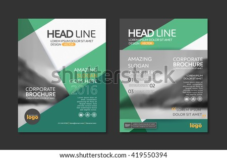 Vector Brochure Flyer Design Layout Template In A4 Size,book Cover Layout  Design,company  Corporate Profile Template