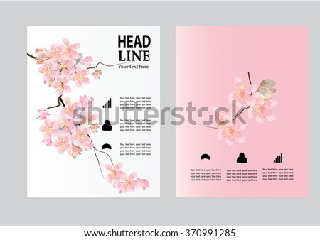 Cherry Blossom Layout - Download Free Vector Art, Stock Graphics ...