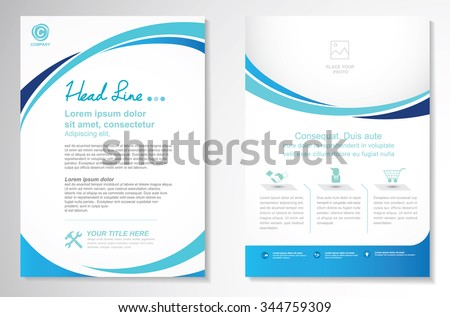 Vector Brochure Flyer design Layout template, size A4, Front page and back page, Easy to use and edit.
