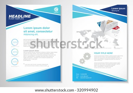 corporate magazine page template download free vector art stock
