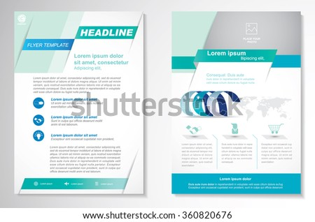 simple business brochure template download free vector art stock