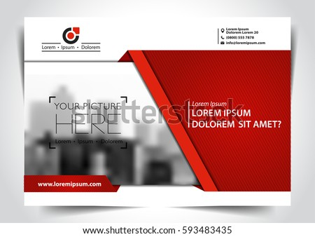 Vector brochure, flyer, magazine cover & poster template.