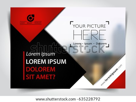 Vector brochure, flyer, magazine cover & poster template. A4