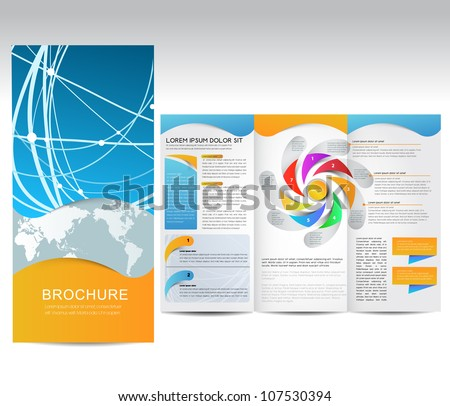 Vector Brochure, illustration
