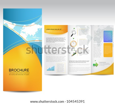 Free Tri Fold Brochure Vector Template - Download Free Vector Art ...