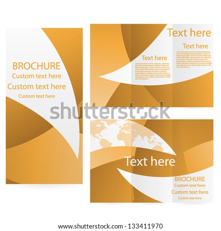Vector Brochure Layout Design Template business