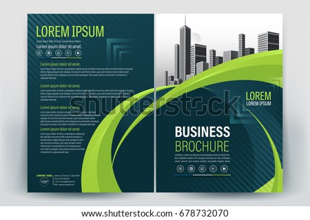 Modern company profile template download free vector art stock vector brochure layout flyers design template company profile magazine poster annual friedricerecipe Image collections