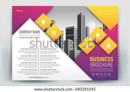 Blank Company Profile Template - Download Free Vectors