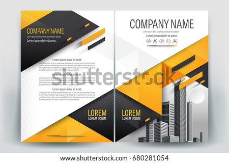 Blank Company Profile Template  Download Free Vector Art Stock