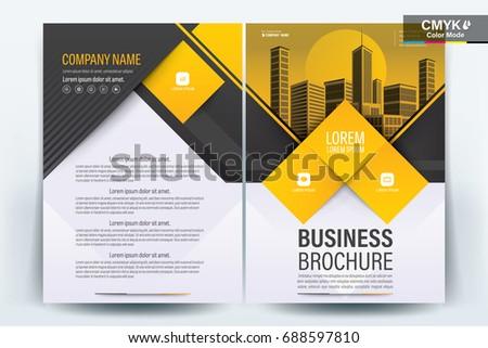 vector brochure layout  flyers