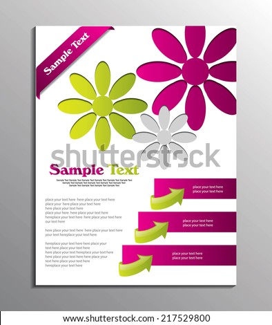 vector brochure or Cover Design