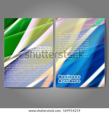 Royalty free abstract bunting design template with 87559465 stock vector brochure template design a4 size with colorful wavy polygonal pattern professional business flyer maxwellsz