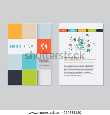 Vector brochure template design.  Abstract Backgrounds,Flat Infographic Concept. #294635120