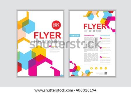 Vector brochure template design Set I #408818194