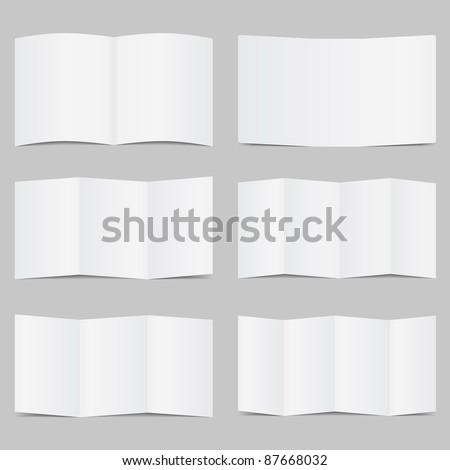 Vector Brochure Templates - stock vector
