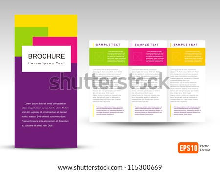 Free Tri Fold Brochure Vector Template Download Free Vector Art - Tri fold brochure free template