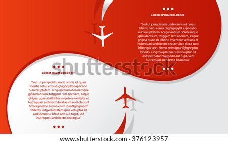 vector brochure with airplanes