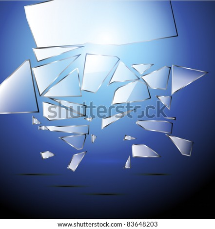 Vector Broken glass background