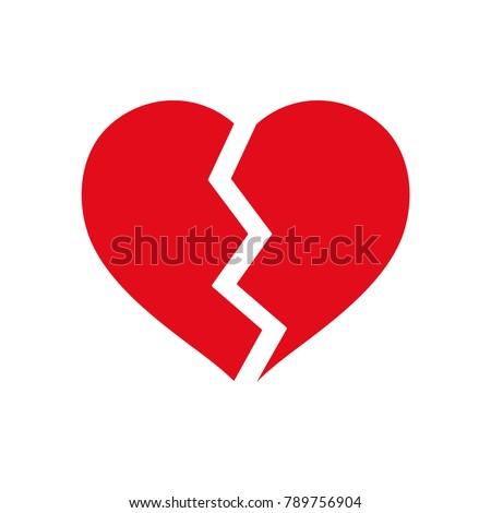 Vector broken heart icon