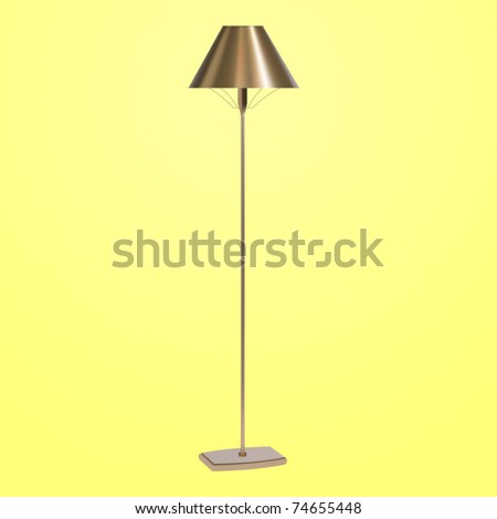 Vector Bronze Floor Lamp - 74655448 : Shutterstock
