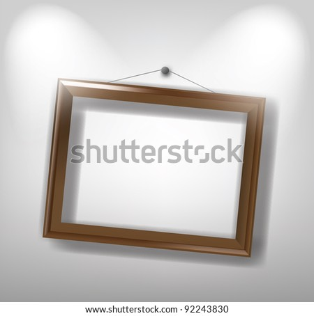 vector brown frame on the wall