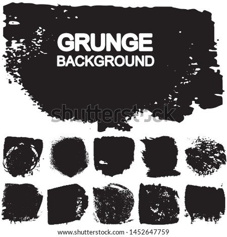 Vector brush in grunge style. A set of abstract patches of paint. A background with place for text #1452647759