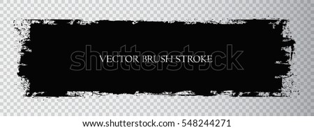 Vector brush stroke.Black grunge stripe.