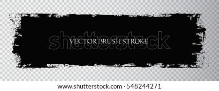 Vector brush stroke.Black grunge stripe.