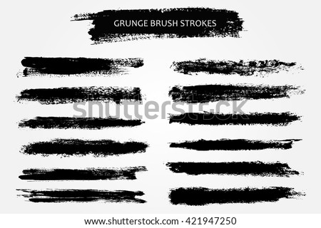 Vector Brush Strokes.Hand Drawn Brushes. #421947250
