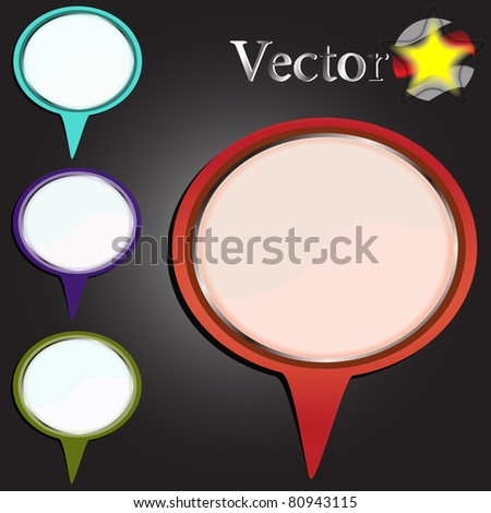 Vector bubble for business or web usage