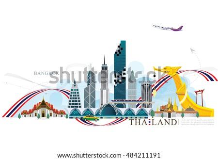 vector building landmark of