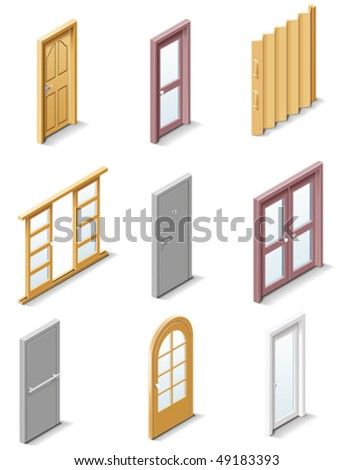 vector building products icons